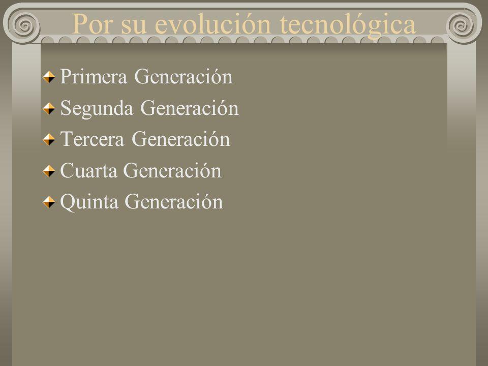 Por su evolución tecnológica