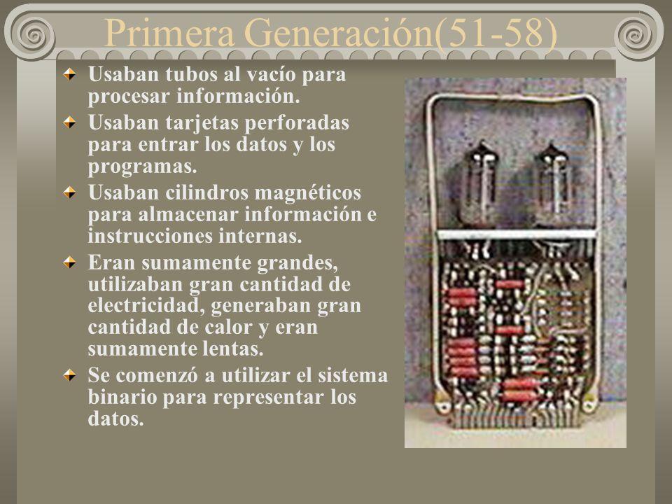 Primera Generación(51-58)