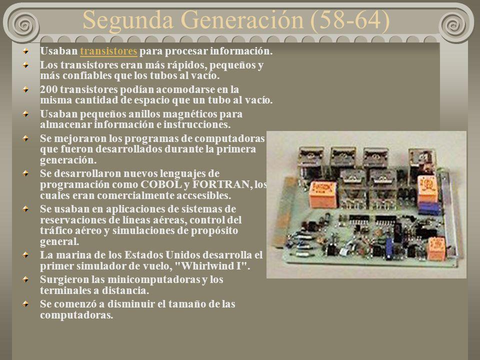 Segunda Generación (58-64)