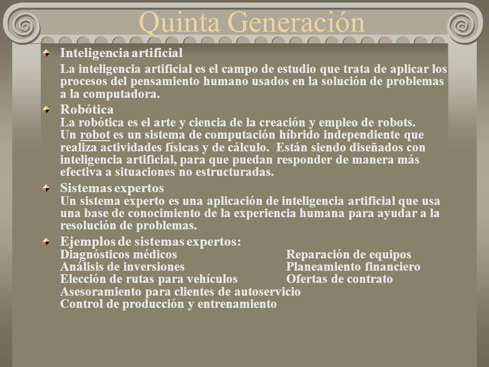 Quinta Generación Inteligencia artificial