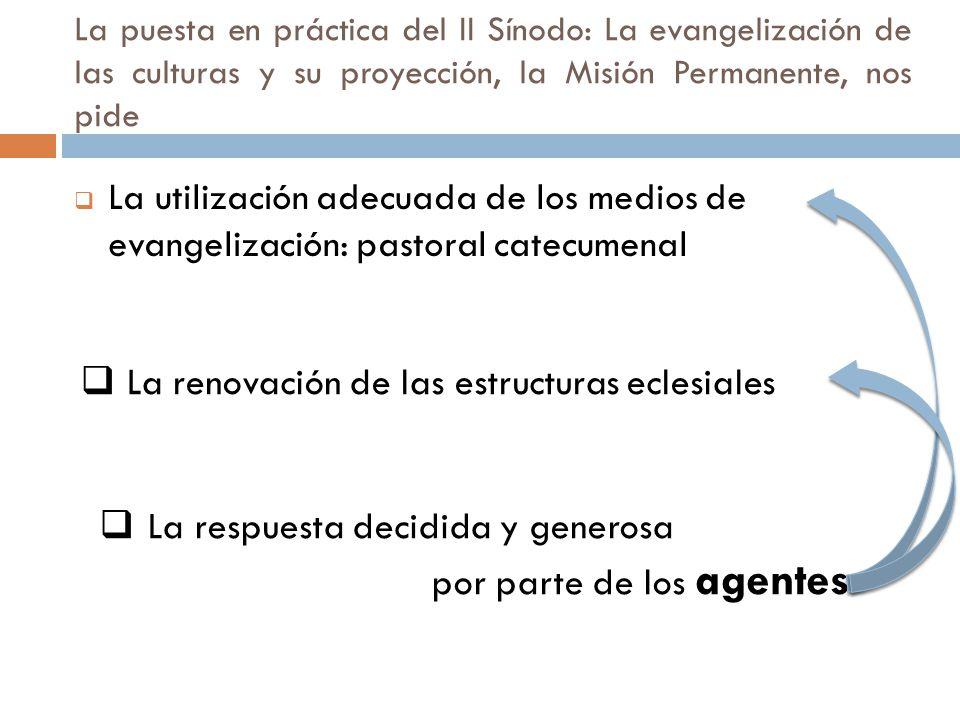 La renovación de las estructuras eclesiales