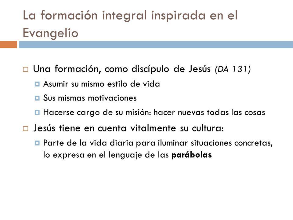 La formación integral inspirada en el Evangelio