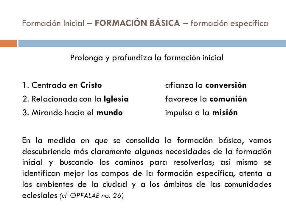 Formación Inicial – FORMACIÓN BÁSICA – formación específica