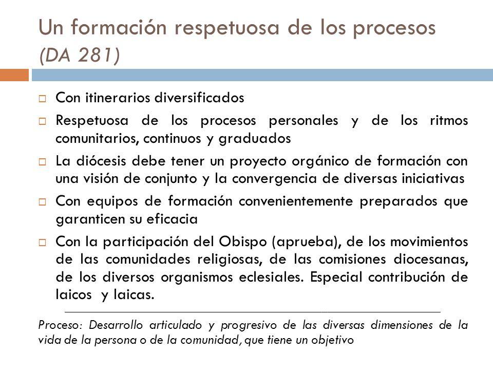 Un formación respetuosa de los procesos (DA 281)