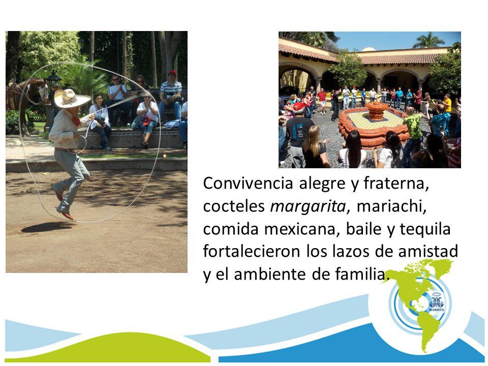 Convivencia alegre y fraterna, cocteles margarita, mariachi, comida mexicana, baile y tequila fortalecieron los lazos de amistad y el ambiente de familia.