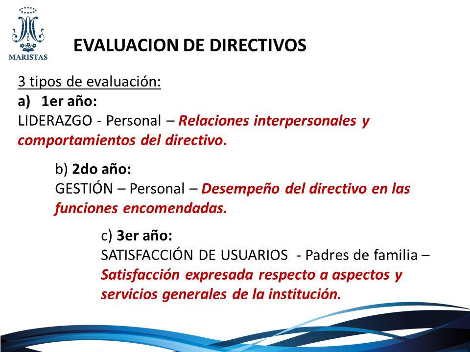 EVALUACION DE DIRECTIVOS