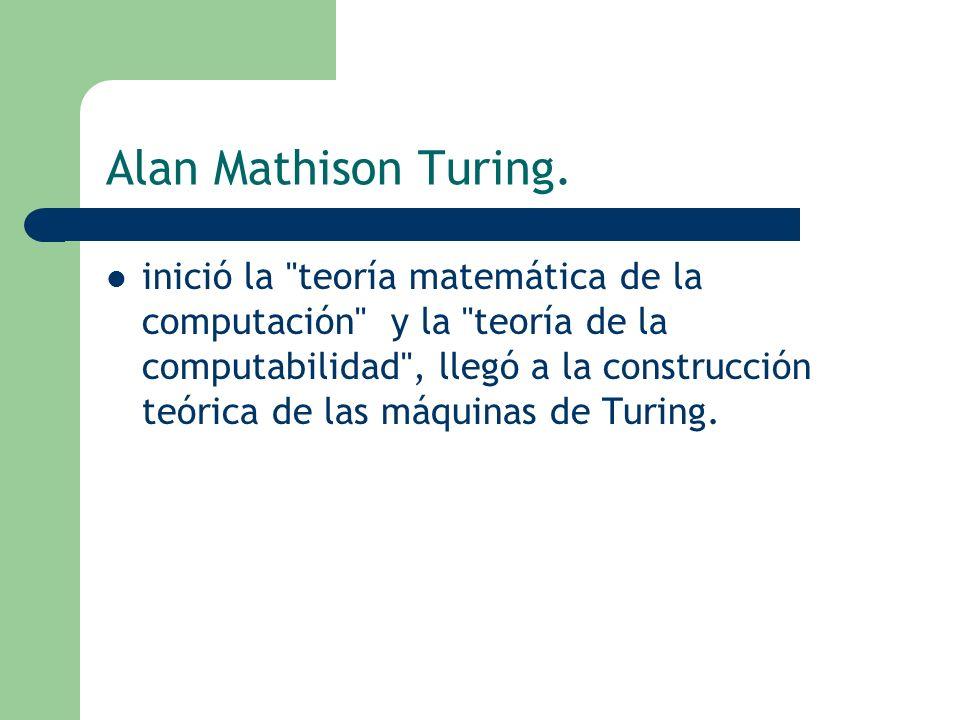 Alan Mathison Turing.