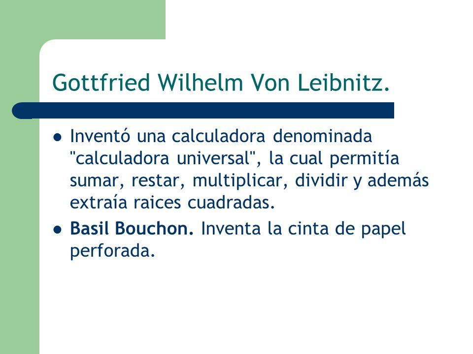 Gottfried Wilhelm Von Leibnitz.