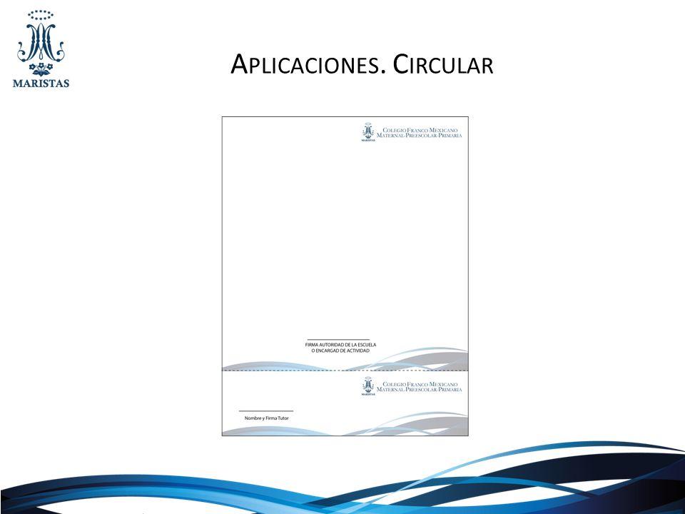 Aplicaciones. Circular