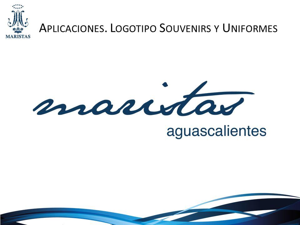 Aplicaciones. Logotipo Souvenirs y Uniformes