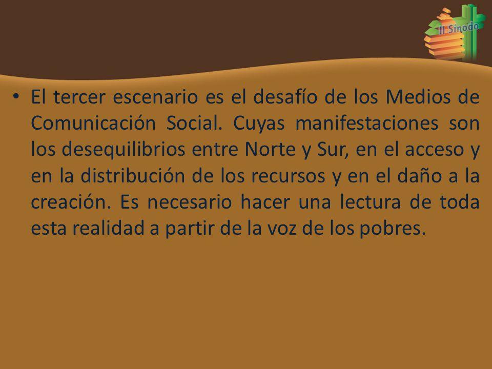 El tercer escenario es el desafío de los Medios de Comunicación Social