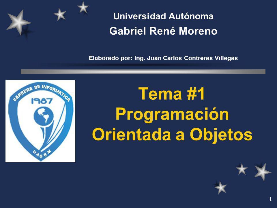 Tema #1 Programación Orientada a Objetos