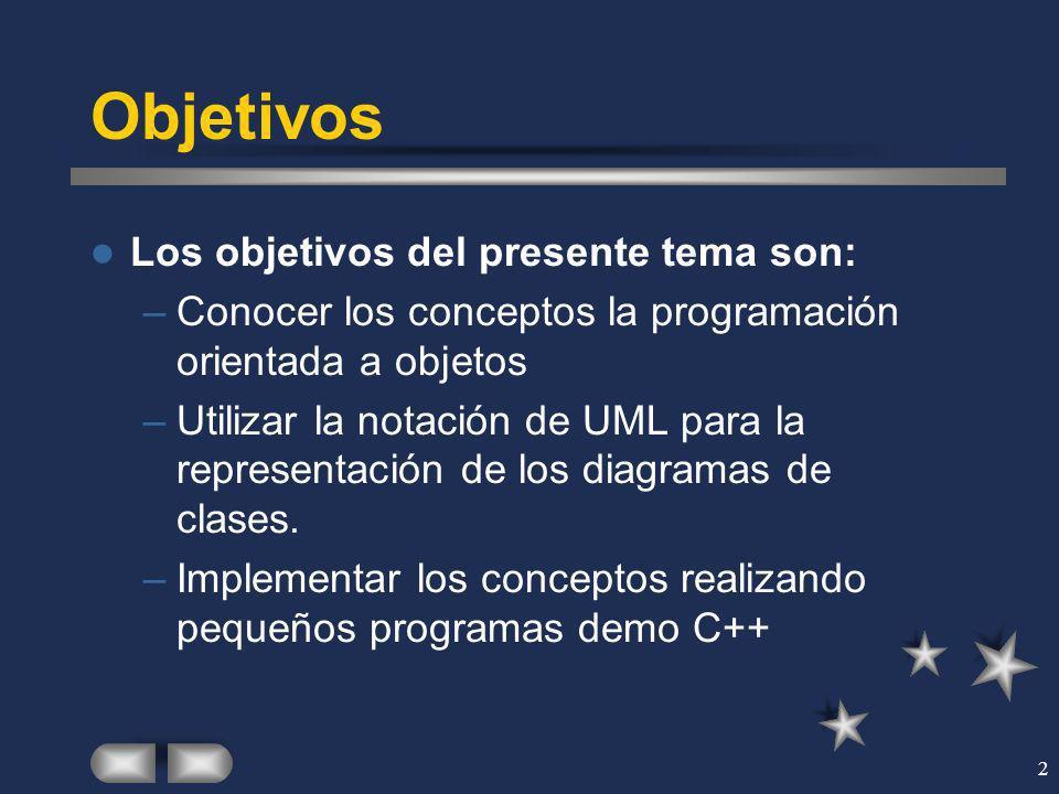 Objetivos Los objetivos del presente tema son: