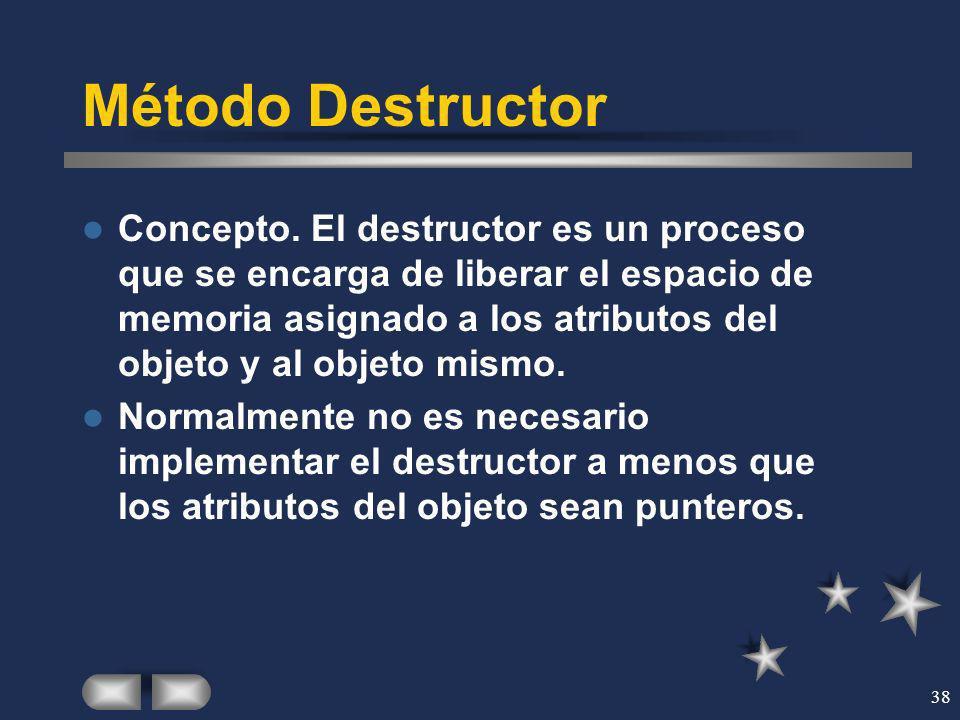 Método Destructor