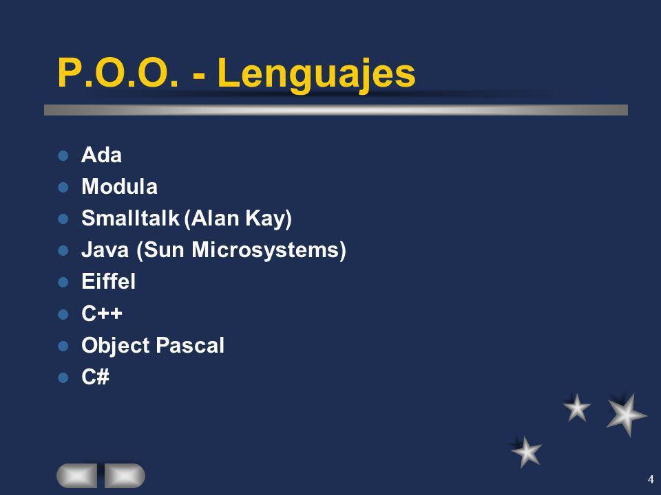 P.O.O. - Lenguajes Ada Modula Smalltalk (Alan Kay)
