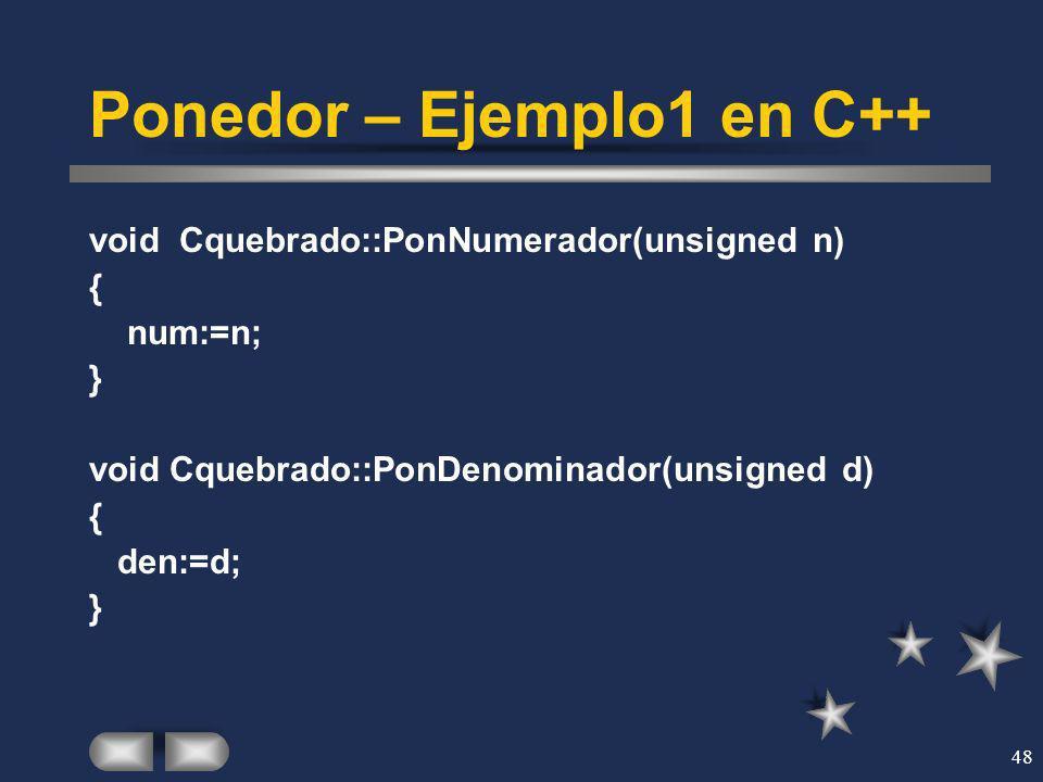 Ponedor – Ejemplo1 en C++