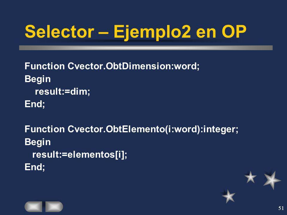 Selector – Ejemplo2 en OP