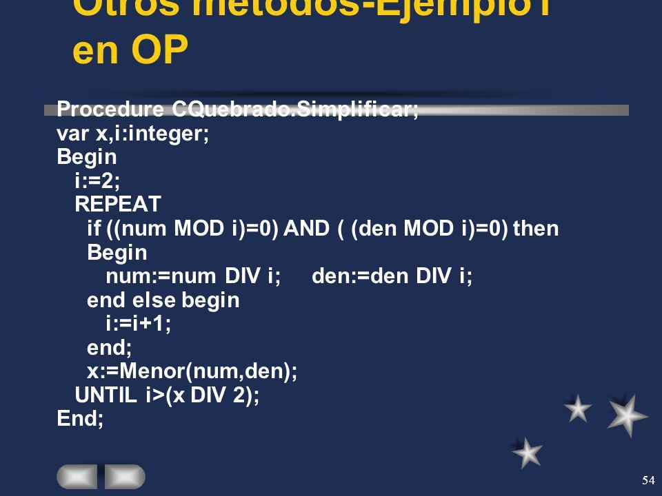 Otros métodos-Ejemplo1 en OP