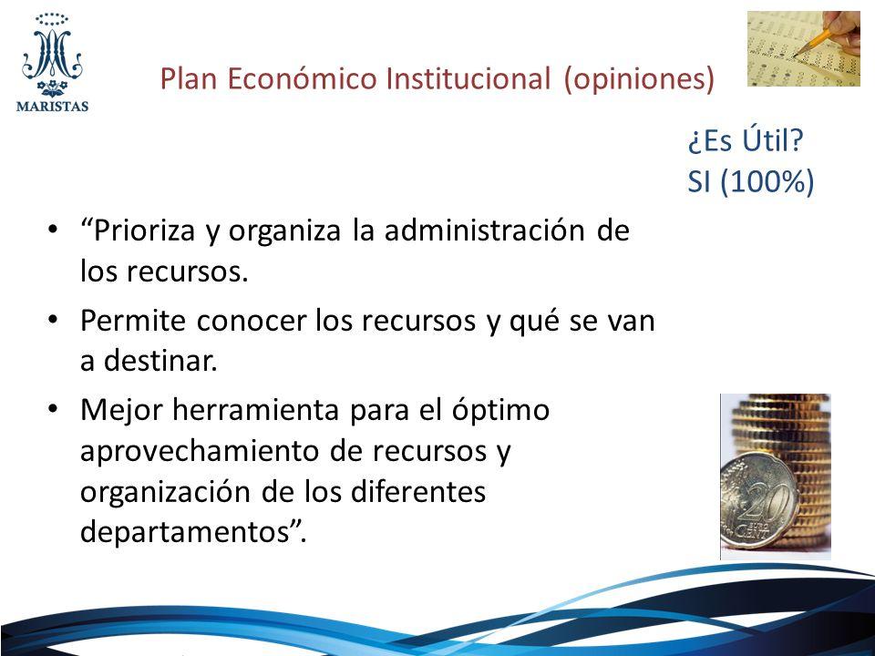 Plan Económico Institucional (opiniones)