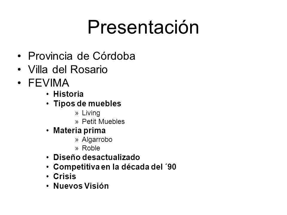 Presentación Provincia de Córdoba Villa del Rosario FEVIMA Historia