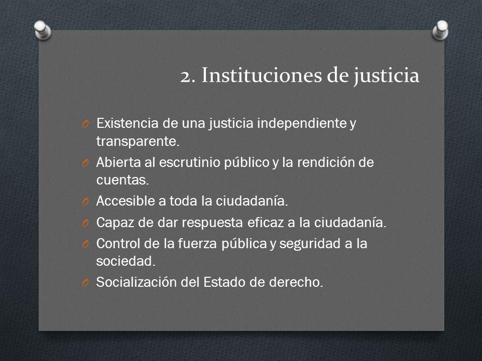 2. Instituciones de justicia