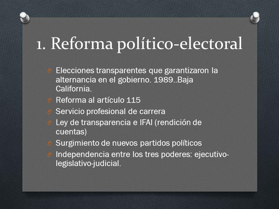 1. Reforma político-electoral