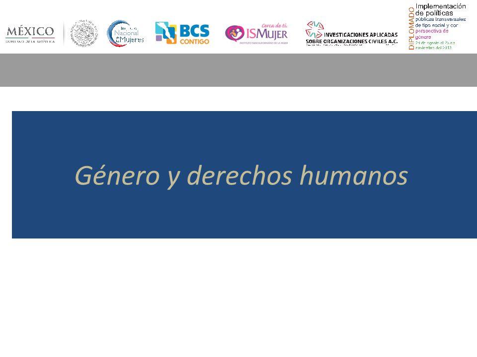 Género y derechos humanos