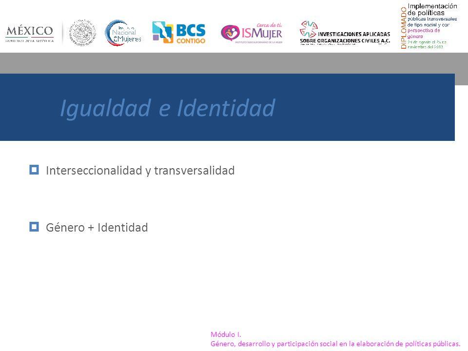 Igualdad e Identidad Interseccionalidad y transversalidad