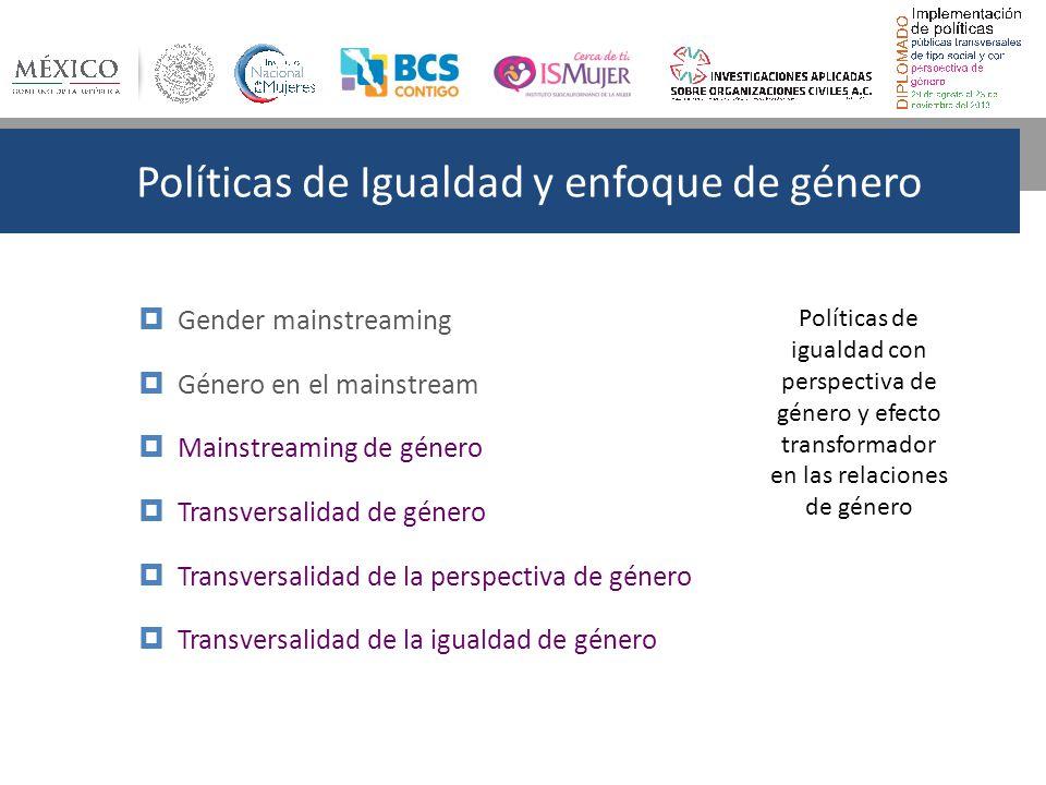 Políticas de Igualdad y enfoque de género