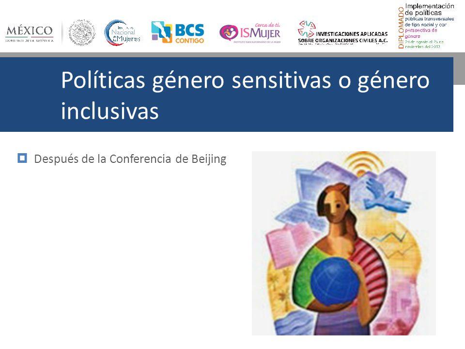 Políticas género sensitivas o género inclusivas
