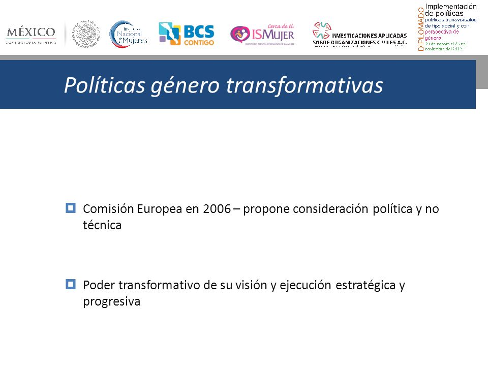 Políticas género transformativas