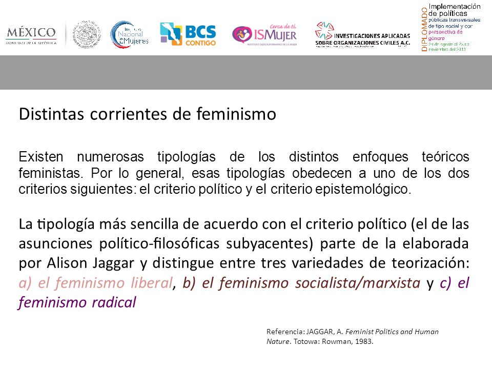 Distintas corrientes de feminismo