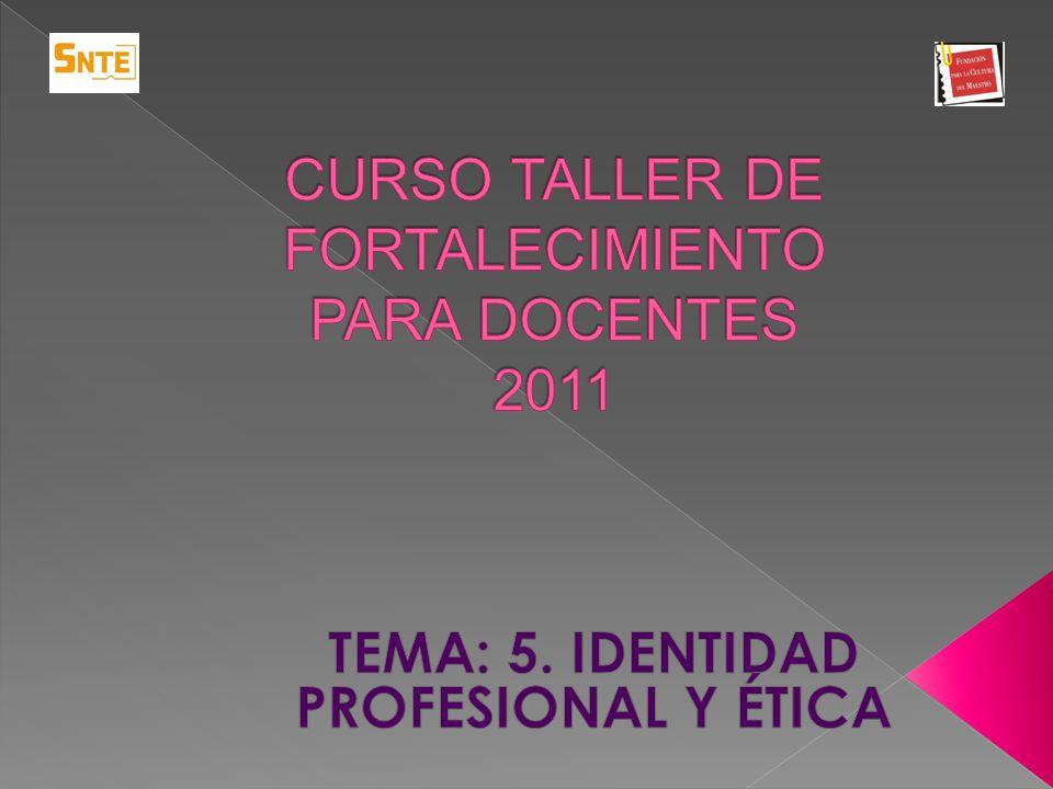 CURSO TALLER DE FORTALECIMIENTO PARA DOCENTES 2011