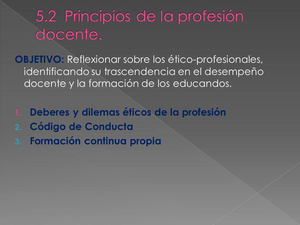 5.2 Principios de la profesión docente.