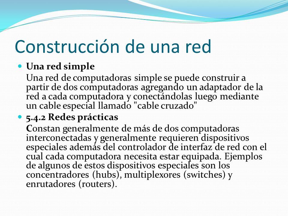 Construcción de una red