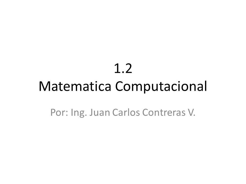 1.2 Matematica Computacional