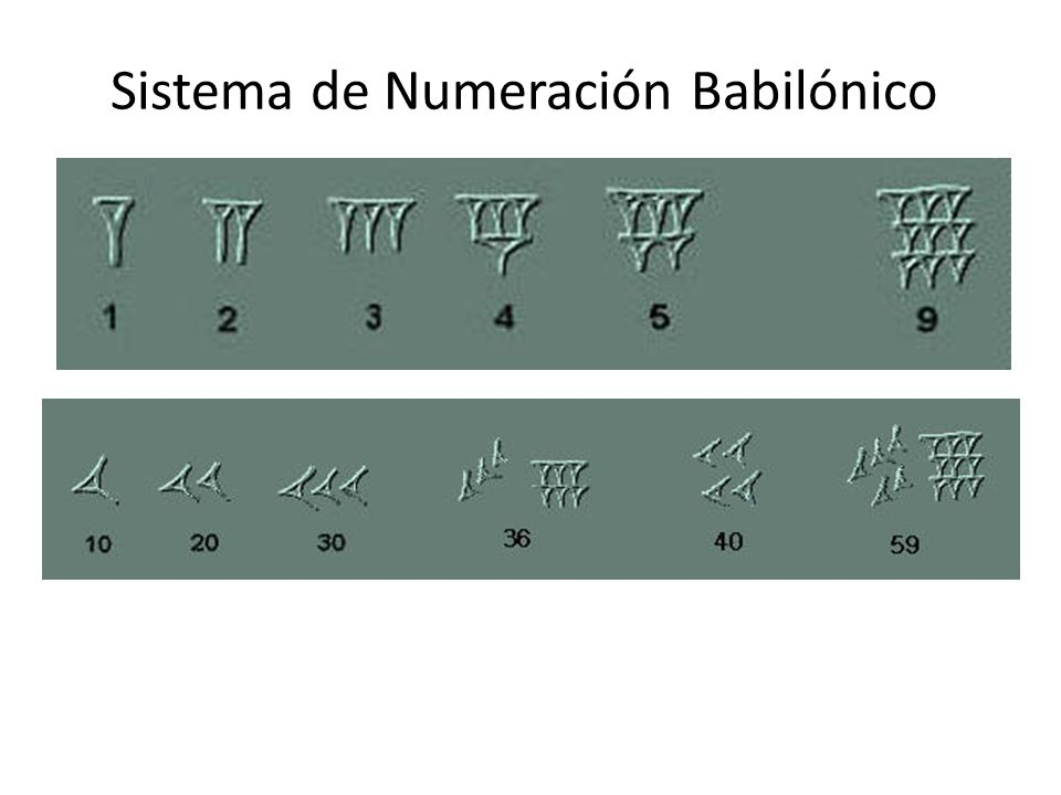 Sistema de Numeración Babilónico