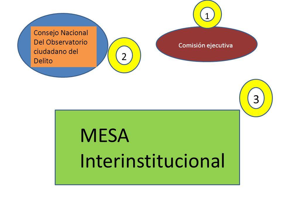 MESA Interinstitucional 3 2 1 Consejo Nacional