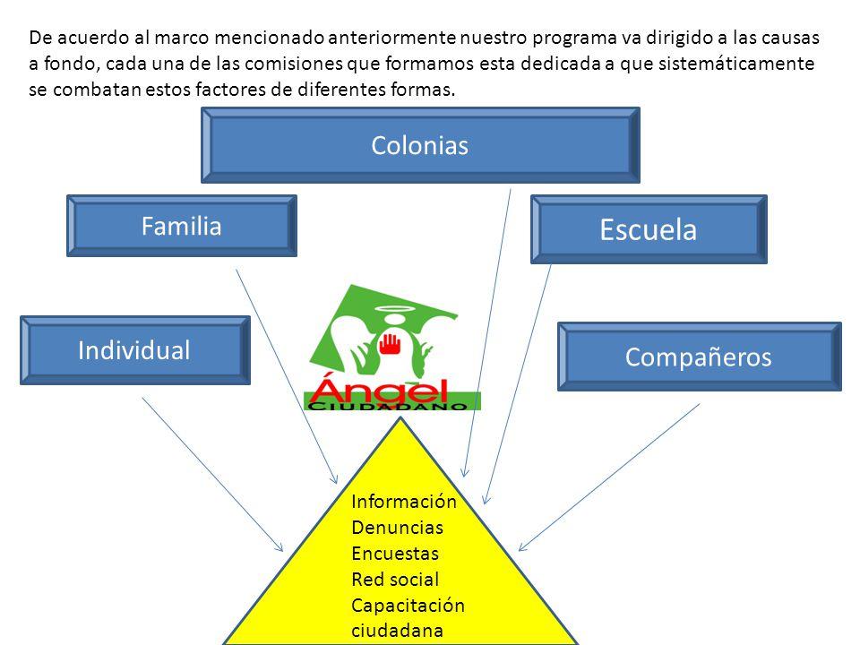 Escuela Colonias Familia Individual Compañeros