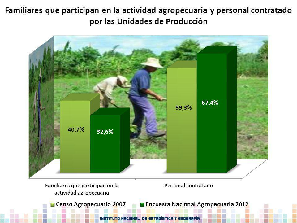 Familiares que participan en la actividad agropecuaria y personal contratado por las Unidades de Producción