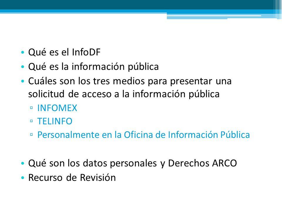 Qué es la información pública