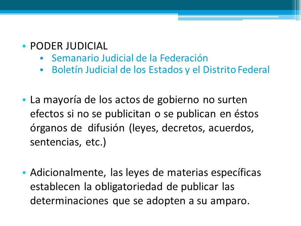 PODER JUDICIAL Semanario Judicial de la Federación. Boletín Judicial de los Estados y el Distrito Federal.