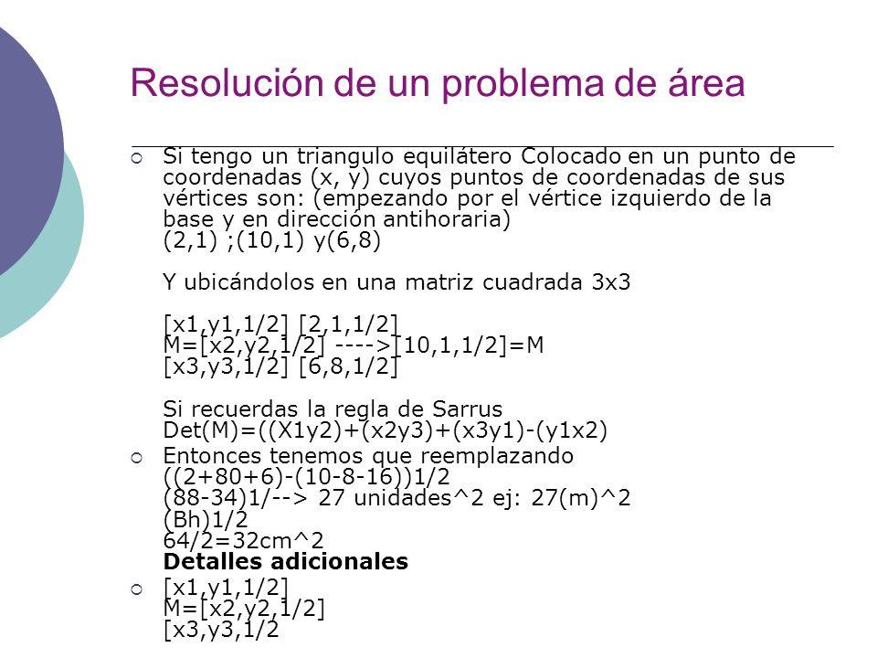 Resolución de un problema de área