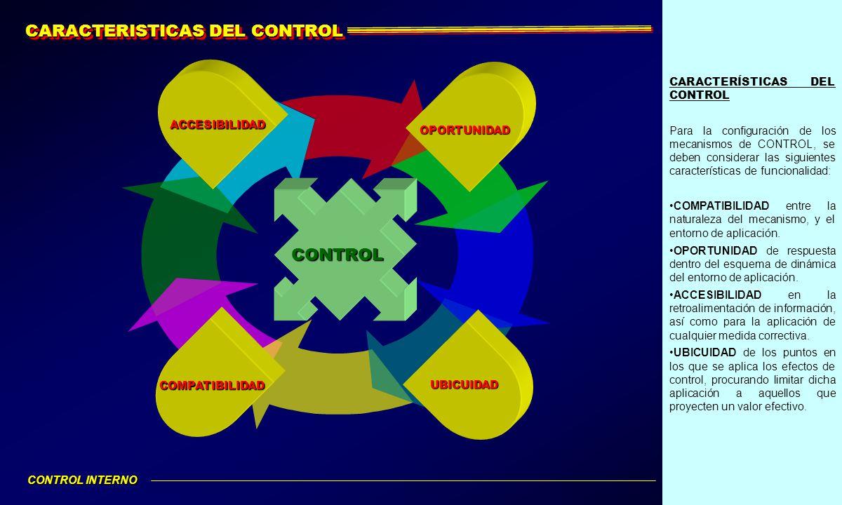 CARACTERISTICAS DEL CONTROL