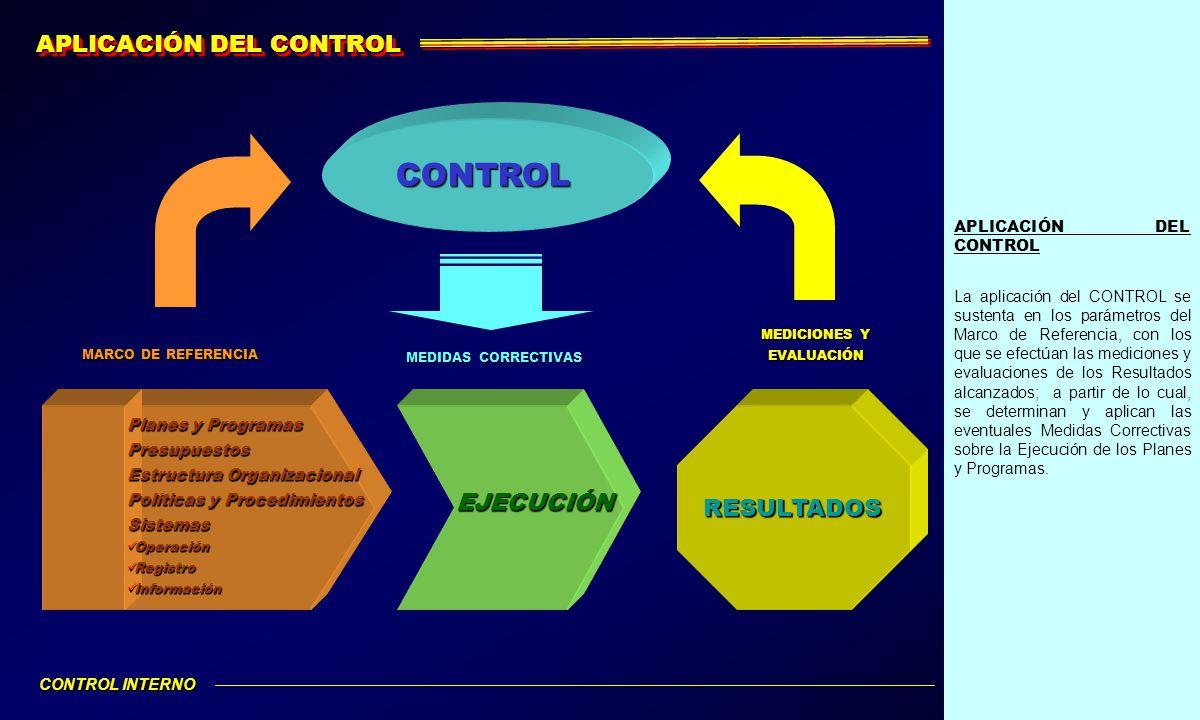 CONTROL APLICACIÓN DEL CONTROL EJECUCIÓN RESULTADOS