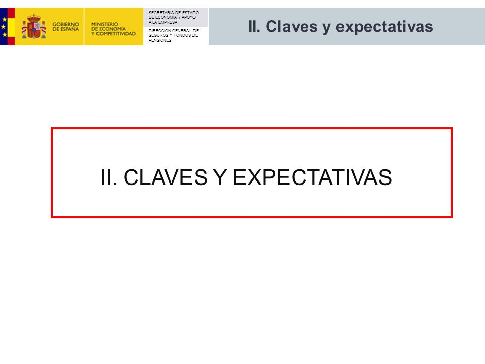 II. Claves y expectativas