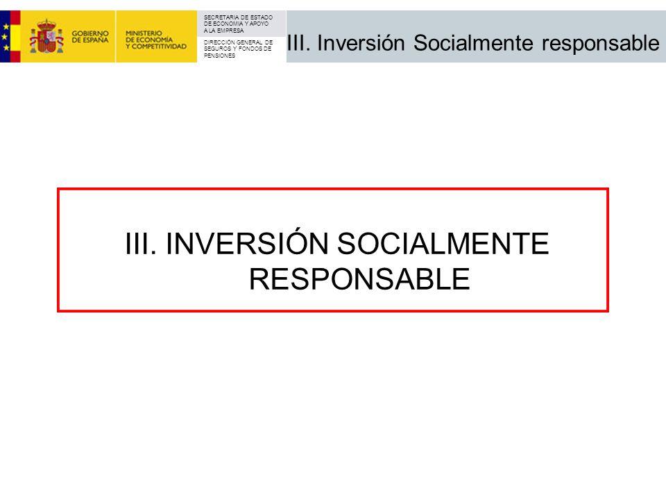 III. Inversión Socialmente responsable