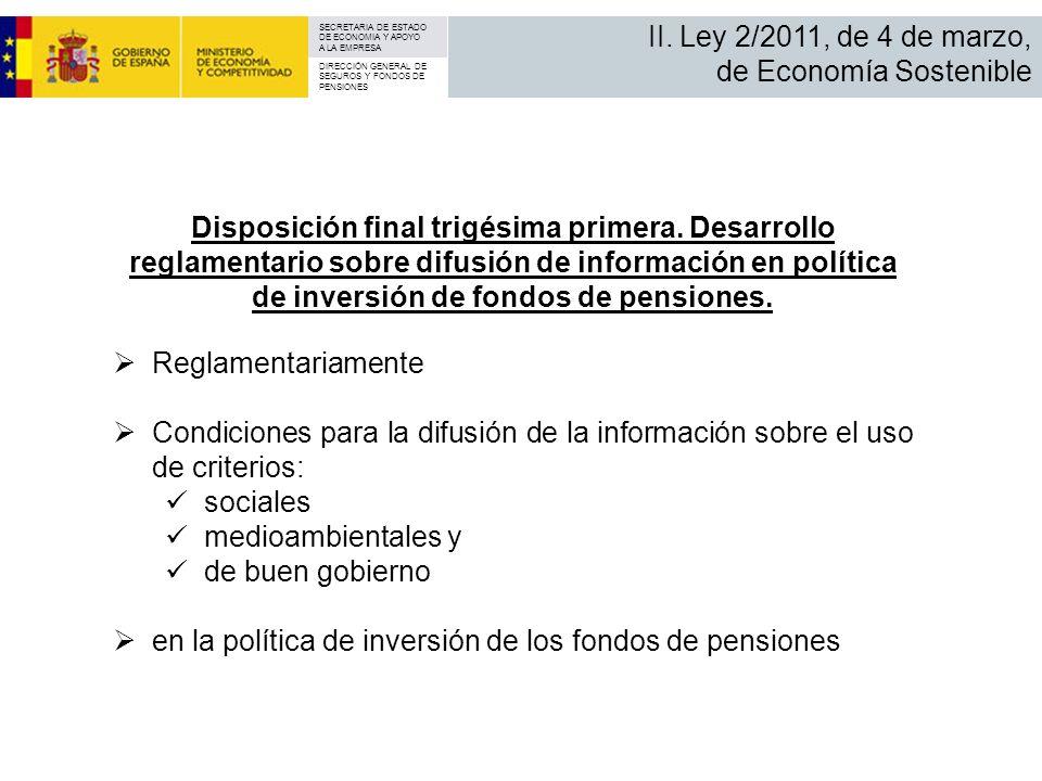 II. Ley 2/2011, de 4 de marzo, de Economía Sostenible