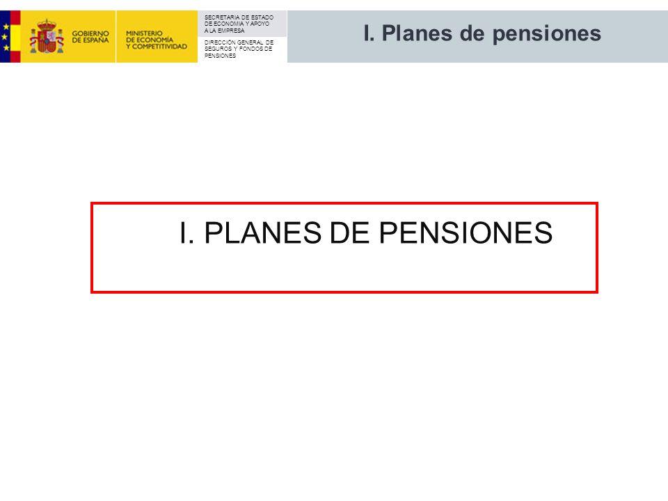 I. Planes de pensiones I. PLANES DE PENSIONES