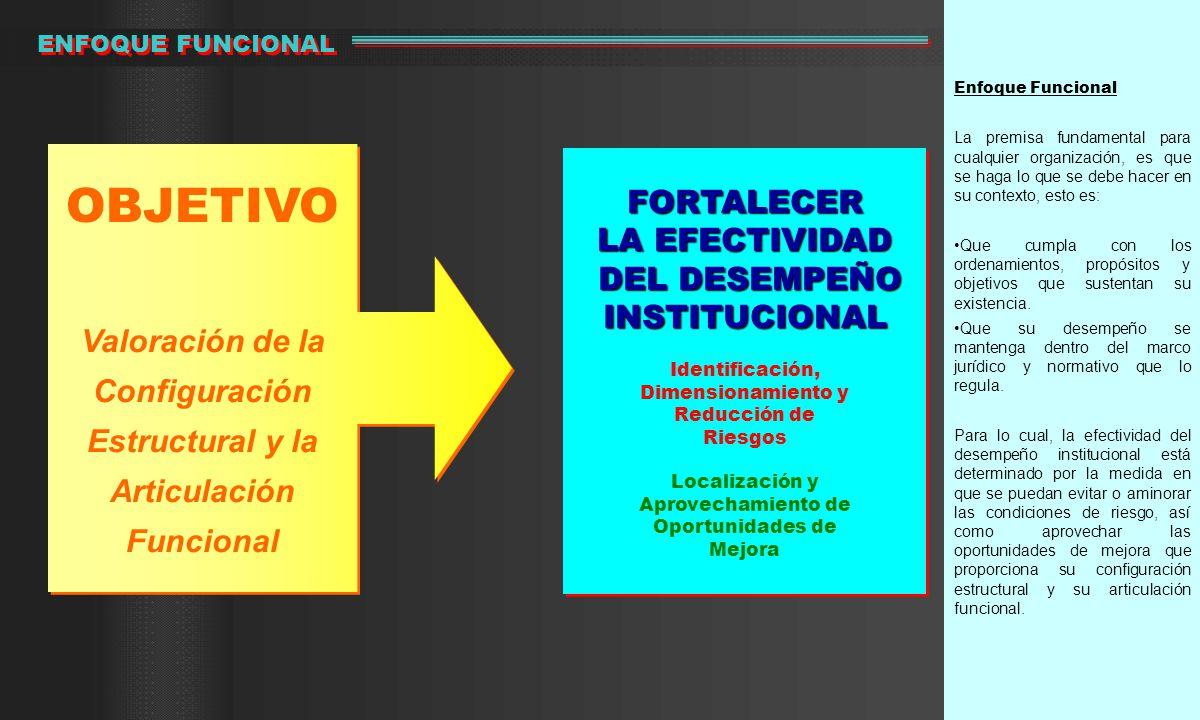OBJETIVO FORTALECER LA EFECTIVIDAD DEL DESEMPEÑO INSTITUCIONAL